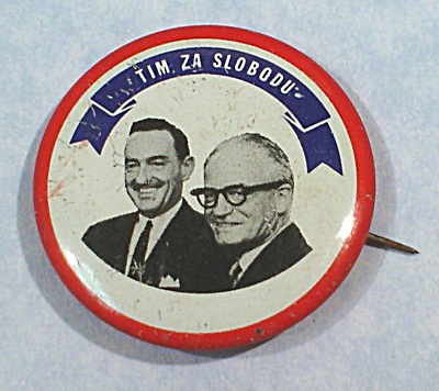 Political Pinback Button, Tim Za Slobodu (Image1)