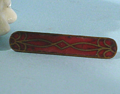 Tiny Antique Enameled Bar Pin (Image1)