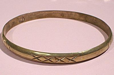 Mexican Silver Bangle Bracelet (Image1)