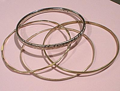 Four Bangle Bracelets (3 Sterling) (Image1)