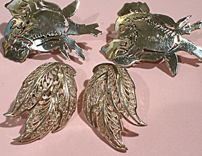 Two Pair of Sterling Silver Clip on Earrings (Image1)
