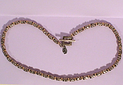 Silver and Gold Choker by Designer Lindy Freed (Image1)