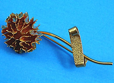 Goldtone Flower Pin (Image1)