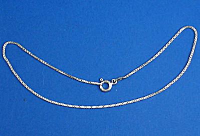 Sterling Silver Box Link Anklet (Image1)