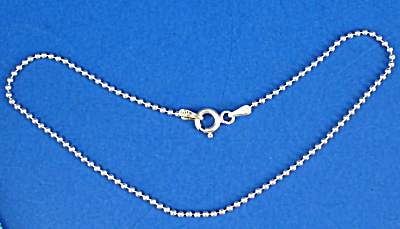 Italian Sterling Silver Bead Chain Anklet (Image1)