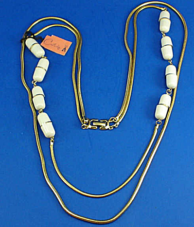 Castlecliff Goldtone Two Strand Necklace (Image1)