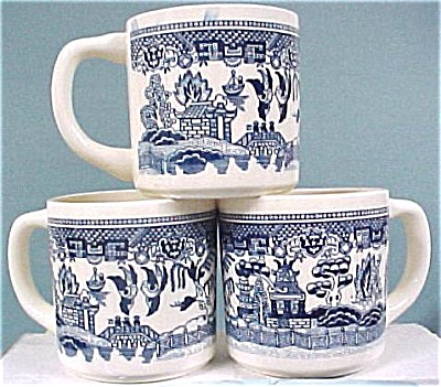 Three USA Pottery Mugs (Image1)