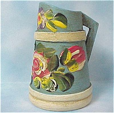 Hand Painted Wood Pitcher Toothpick Holder (Image1)