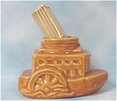 Ceramic Paddlewheeler Toothpick Holder (Image1)