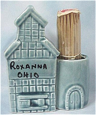 1970s Japan Ceramic Grain Elevator Toothpick (Image1)