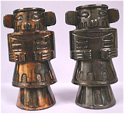 Pot Metal Tiki Totem S/P Shakers (Image1)