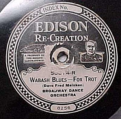 Edison Record #50874: 'Sal-o-May' and 'Wabash Blues' (Image1)