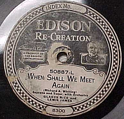 Edison Record #50887: When Shall We Meet Again (Image1)