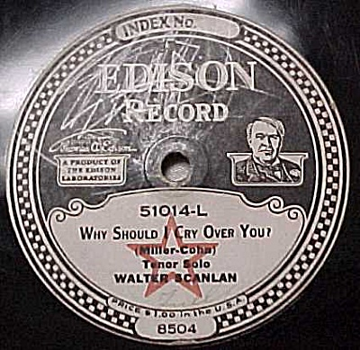 Edison Record #51014: 'Sunset Trail' 'Why Should I Cry' (Image1)