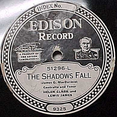 Edison Record #51296: 'thrill Of Love', 'shadow Falls'