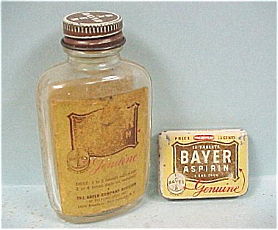 Bayer Asprin Bottle and Mini Tin (Image1)
