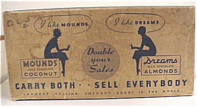 1930s Peter Paul Mounds Candy Bar Case Box (Image1)