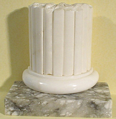 Heavy Alabaster Column Bookend (Image1)