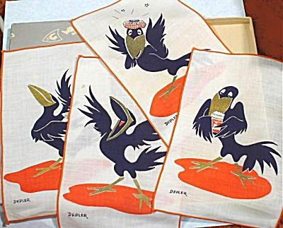 Cartoony Crow Bar Napkins (Image1)