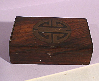 Miniature Wood and Brass Box (Image1)