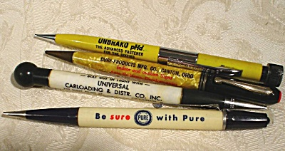Four Advertising Mechanical Pencils