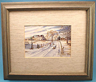 Lovely Country Snow Scene by James Worland (Image1)