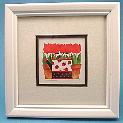 Small Lucky Ladybugs Print by Carolyn Ottman (Image1)