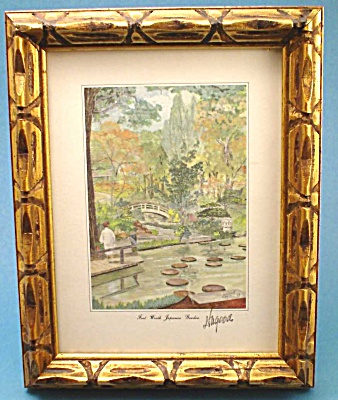 1988 Fort Worth Japanese Gardens Print by Hagood (Image1)