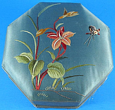 Vintage Silk Jewelry Box