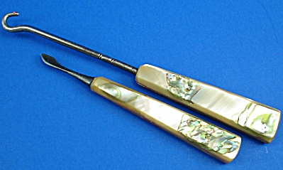 Vintage Shell Handle Buttonhook and Nail Cleaner (Image1)