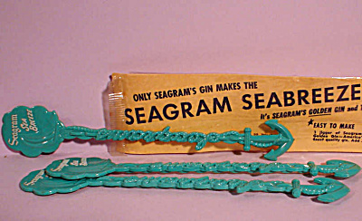 Three Seagram Sea Breeze Plastic Stir Sticks (Image1)