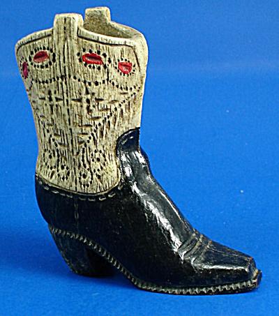 Vintage Wood Composition Western Boot (Image1)