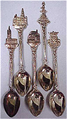 5 different souvenir spoons (Image1)