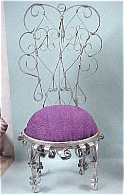 Hand Crafted Metal Can Chair Pincushion (Image1)