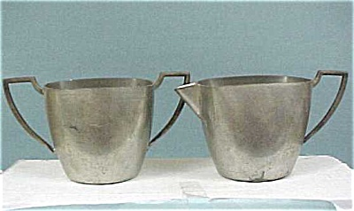 Pewter Cream & Sugar Set