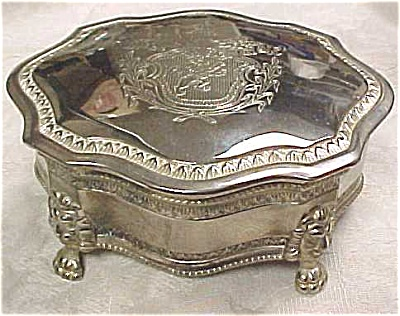 Silver Plate Jewelry Box