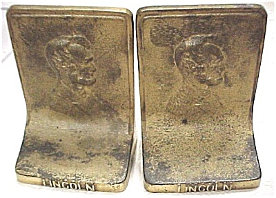 Bradley & Hubbard Lincoln Brass Bookends
