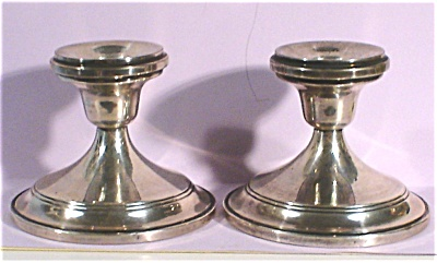 Sterling Hamilton Silver Co Candlestick Pair