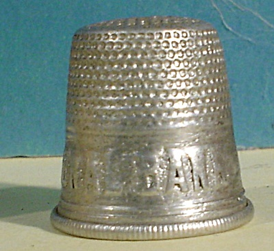 Vintage Advertising Thimble for American National Bank (Image1)