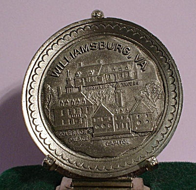 Miniature Pewter Williamsburg Souvenir Plate (Image1)