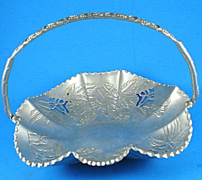Farber And Shlevin Hand Wrought Pierced Aluminum Basket