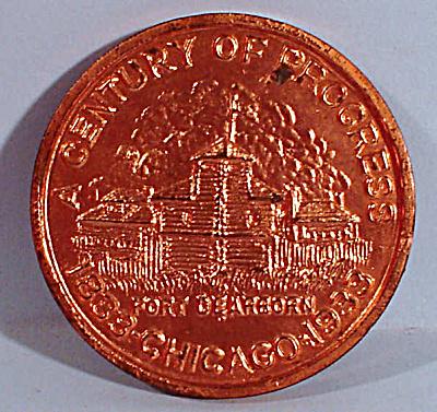 1933 Chicago Centennial Souvenir Coin (Image1)
