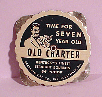1950s Advertising Old Charter Bourbon Calendar