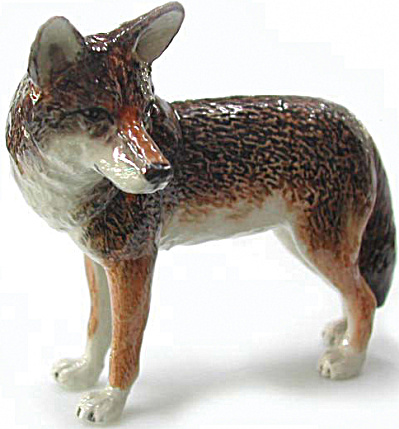 R018 Standing Coyote