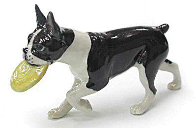 R133 Boston Terrier with Frisbee (Image1)