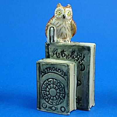 K4193 Owl With Astrology Books