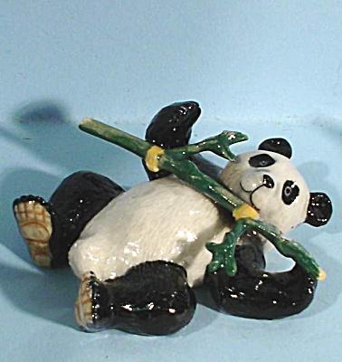 K4393 Lying Panda with Bamboo (Image1)