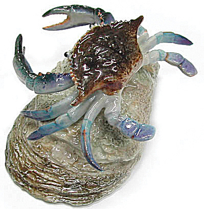 R187 Blue Crab on Oyster Shell (Image1)