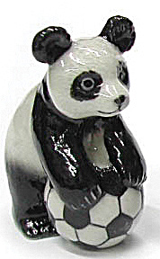 R249c Panda With Soccer Ball, Standing