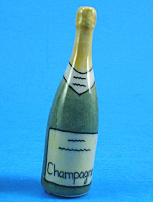 K740 Porcelain Miniature Champagne Bottle (Image1)